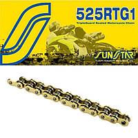 Приводная цепь 525RTG1 Gold Sunstar 525RTG1-124G