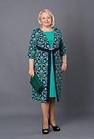Платье женское унивесальное цвет бирюзовый р.52-60 V260
