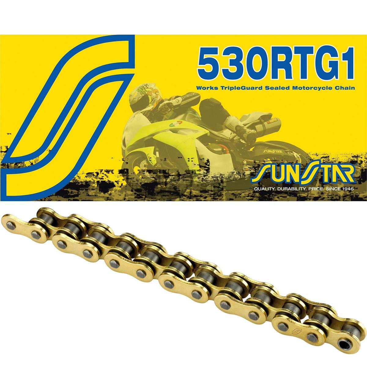 Приводная цепь 530RTG1 Gold Sunstar 530RTG1-116G