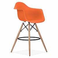 Стул барный Тауэр Вуд Eames оранжевый