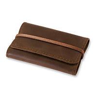 Кейс для визиток, пластиковых карт кожаный коричневый (ручная работа), фото 1
