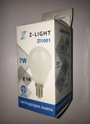 Светодиодная лампа Z- LIGHT ZL1001 7W G45 E14 4000K Код.58786, фото 2
