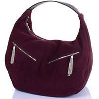 Удобная женская замшевая сумка GALA GURIANOFF (ГАЛА ГУРЬЯНОВ) GG1300-17 бордовый