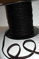 Бархатная лента черная 5мм ширина