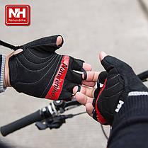 Велоперчатки безпалі NatureHike Cycling Half червоний NH23S011-T, фото 3