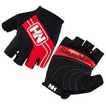 Велоперчатки безпалі NatureHike Cycling Half червоний NH23S011-T, фото 2