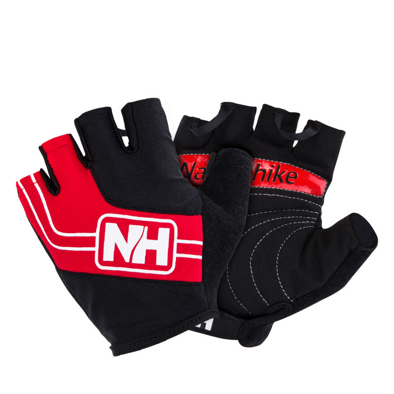 Велоперчатки беспалые NatureHike Cycling Half красный NH23S011-T