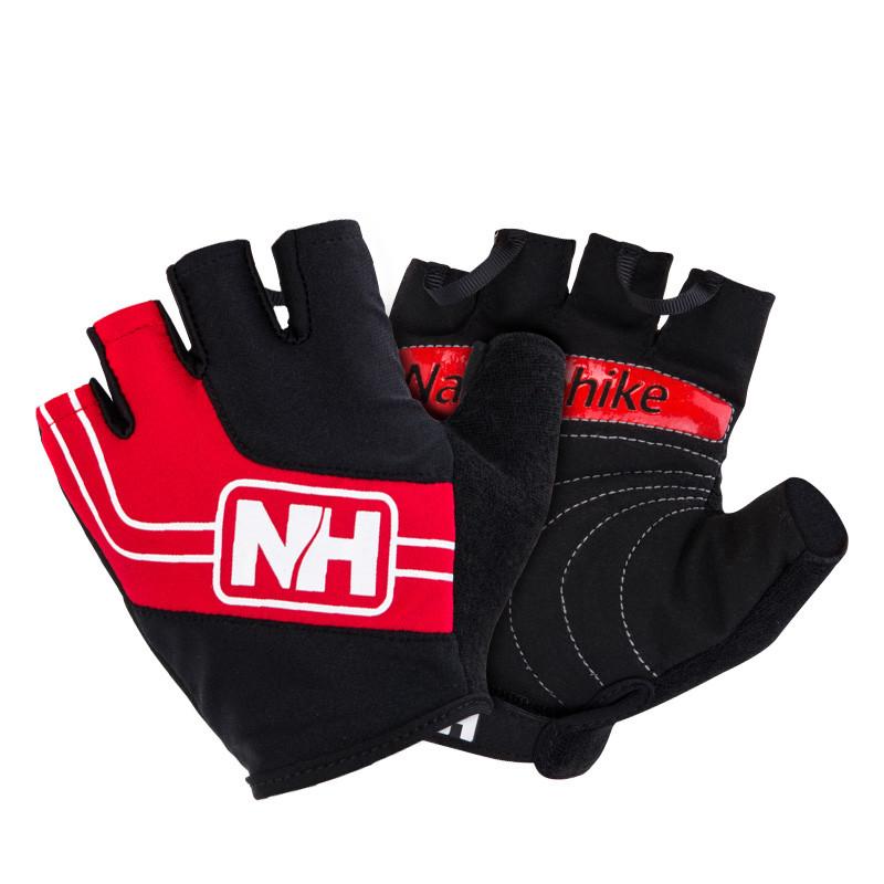 Велоперчатки безпалі NatureHike Cycling Half червоний NH23S011-T
