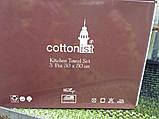 Набор махровых полотенц на кухню(кофе) 3 штуки размером 30 на 50 в подарочной упаковке., фото 3