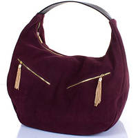 Красивая женская замшевая сумка GALA GURIANOFF (ГАЛА ГУРЬЯНОВ) GG1300-17-1 бордовый