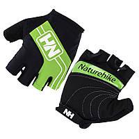 Велоперчатки беспалые NatureHike Cycling Half зелёный NH23S011-T