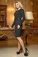 Красивое строгое  трикотажное  платье цвет черный