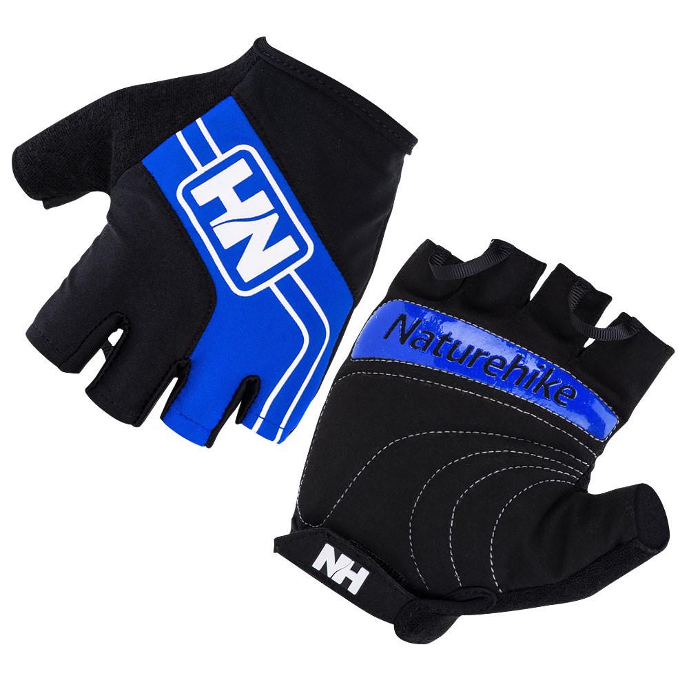 Велоперчатки беспалые NatureHike Cycling Half синий NH23S011-T