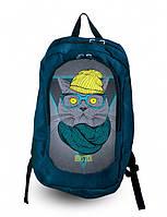 Рюкзак с фотопечатью Котэ хипстер Код:168-1652599