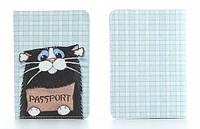 Кожаная обложка на паспорт Котенок