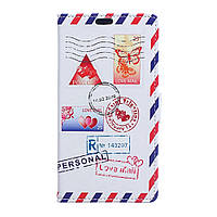 Чехол книжка для LG K4 K130E боковой с отсеком для визиток, Love Mail