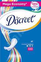 Прокладки ежедневные Discreet Air NO PERFUME 100 шт mega economy