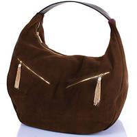 Стильная женская замшевая сумка GALA GURIANOFF (ГАЛА ГУРЬЯНОВ) GG1300-22 коричневый