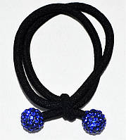 """Резинка для волос """"синие бусинки"""" (5 шт)"""