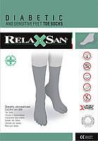 RelaxSan 650C - Диабетические носки с пальчиками из хлопка и серебряным волокном X-Static без компрессии