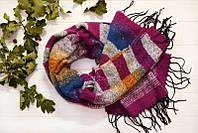 Молодежный сиреневый с примесью шарф