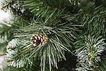 Ель искусственная Элитная Заснеженная с шишками, высота 1,5 м, фото 3