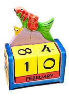 Вечный календарь Рыбка  (дерево)
