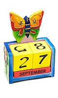 Вечный календарь Бабочка  (дерево)