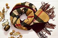 Модный шарфик с бахрамой