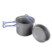 Кастрюля-кружка анодированная 0,9 л с крышкой-сковородкой TRC-039