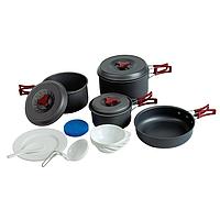 Набор посуды из анодированного алюминия на 4-5 персон.(1,0+1,8+2,8) TRC-026