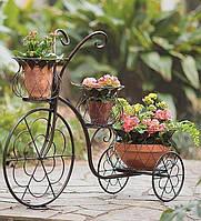 Декоративный кованый велосипед-цветочницу купить в Херсоне