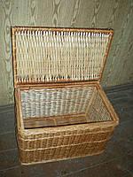 Плетёная бельевая корзина из лозы