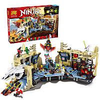 """Конструктор lele 79348 ninja ( ninjago 70596) """"хаос в x-пещере самураев"""" 1303 дет"""