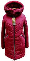 Женская зимняя куртка с капюшоном, мех песец