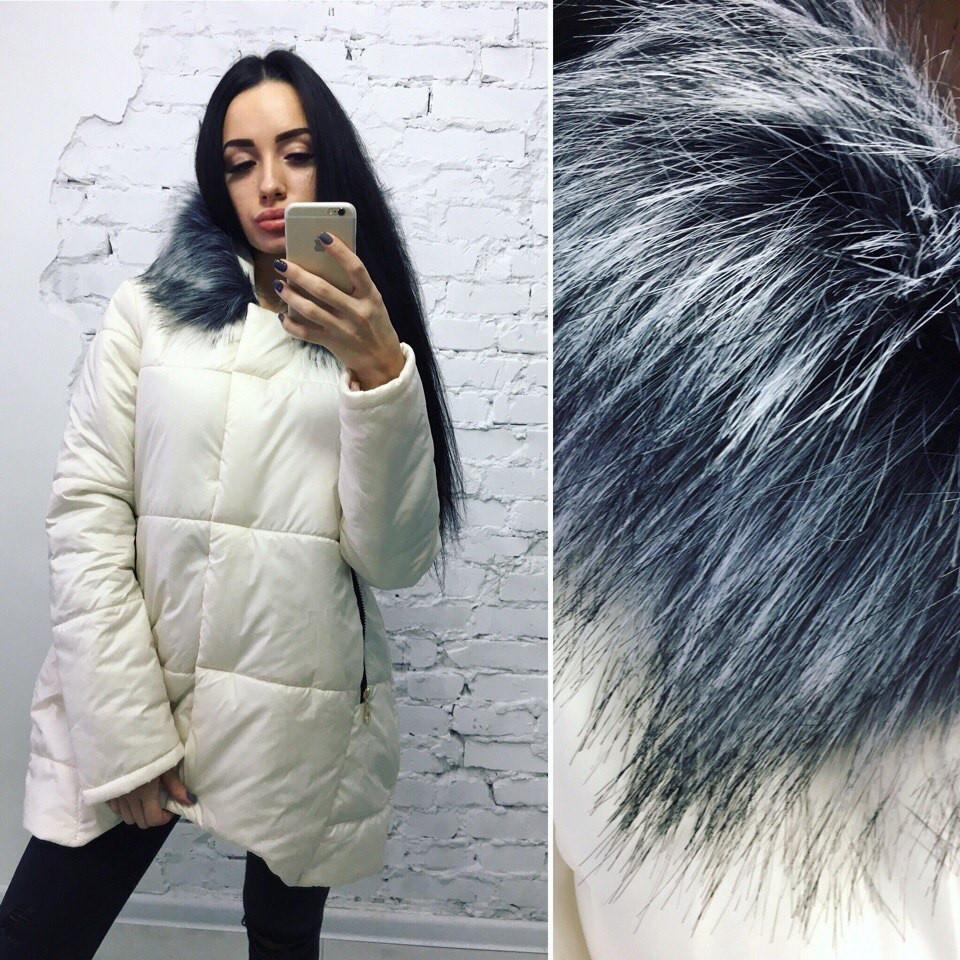 d44d23e8 Женская очень теплая зимняя куртка белая -