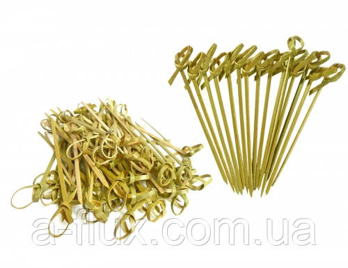 Шпажка-бамбук Узелок 6 см 100 шт Winco
