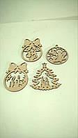 Снежинки из дерева деревянные игрушки