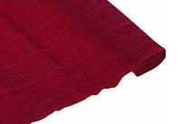 Креп бумага темно-бордовая №588  Италия