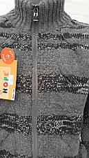 Кофта вязанная для мальчиков 128,140,152,164 роста Полоски, фото 3