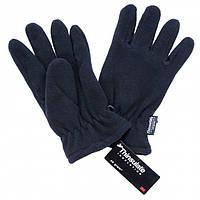 Перчатки флисовые с утеплителем черные  Германия