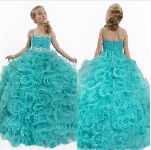 Бальное платье с воланами