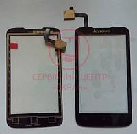 Lenovo A316 A316i сенсорний екран, тачскрін чорний
