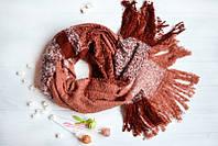 Персиковый женский шарфик