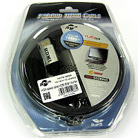 Кабель  AT-com  HDMI-HDMI  HIGH speed   3,0m   ver1.4 ;2K-4K black