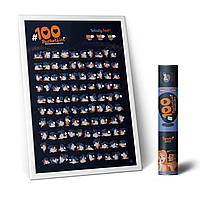 "Скретч постер ""100 дел BucketList KAMASUTRA"" в тубусе"