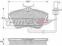 Гальмівні колодки передні з датчиком (R15, суцільний диск,129.7x65.2x19mm) VW T4 90-03 11-821 TOMEX (Польща)