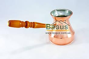 Турка медная 250 мл цельнокатанная со съемной ручкой (Украина)