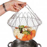 Кошик для приготування їжі універсальне пристосування для варіння, смаження і проціджування їжі