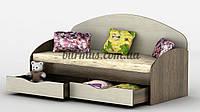 Кровать с выдвижными ящиками Горизонт